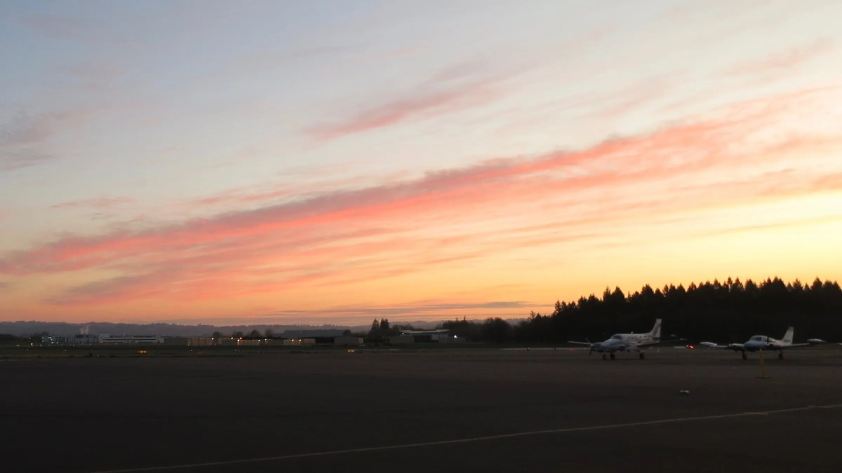 Sunrise at the Hillsboro Airport