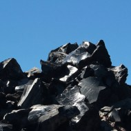 Mounds of obsidian
