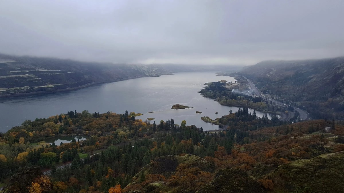 View of Mayer State Park from Rowena Crest