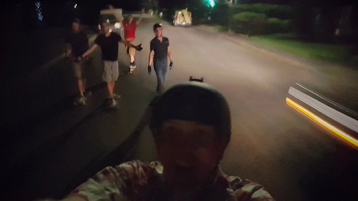 Longboarding at night