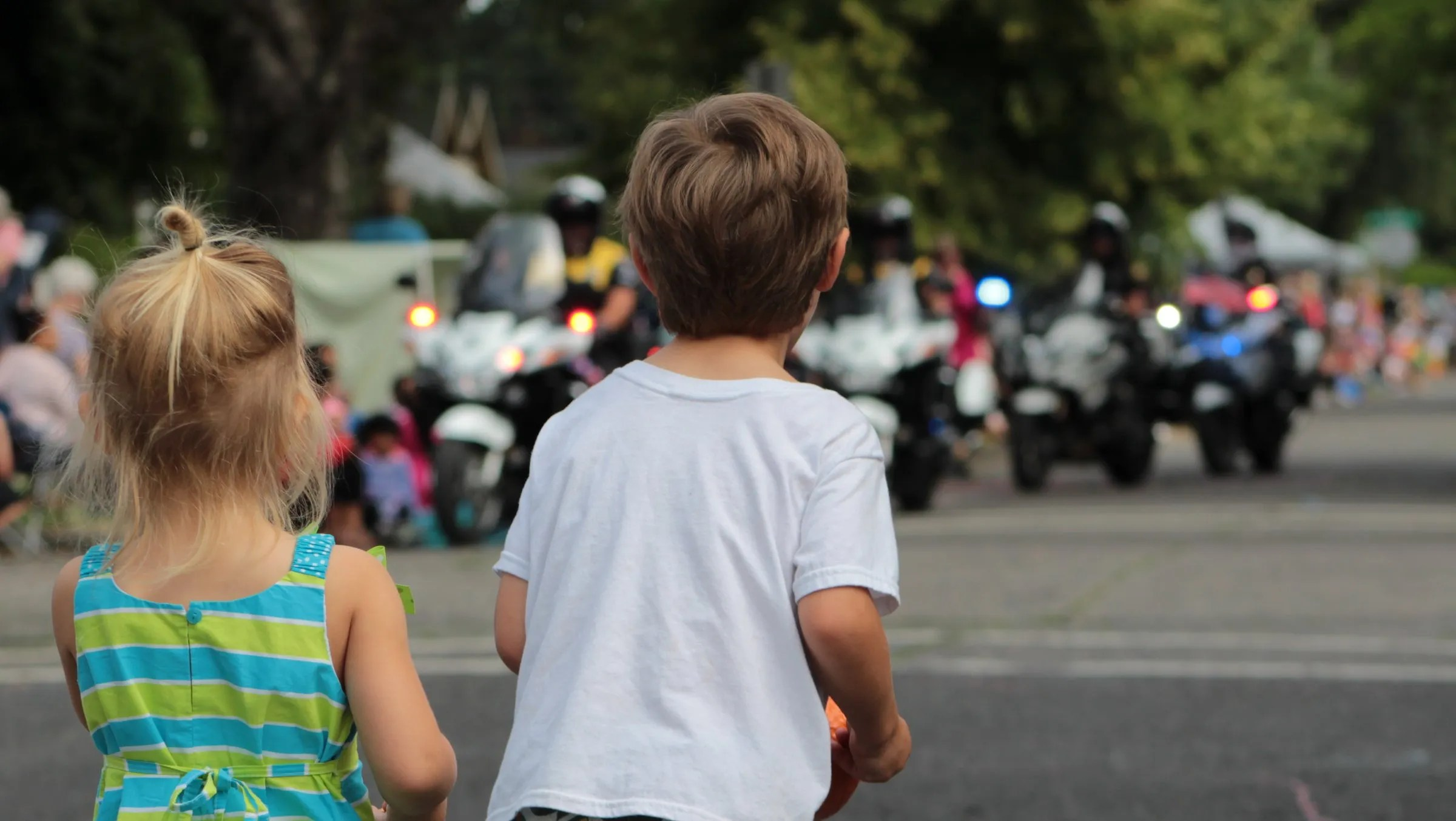 Watching the parade begin