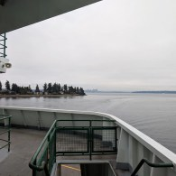 Seattle in the distance, coming into Eagle Harbor