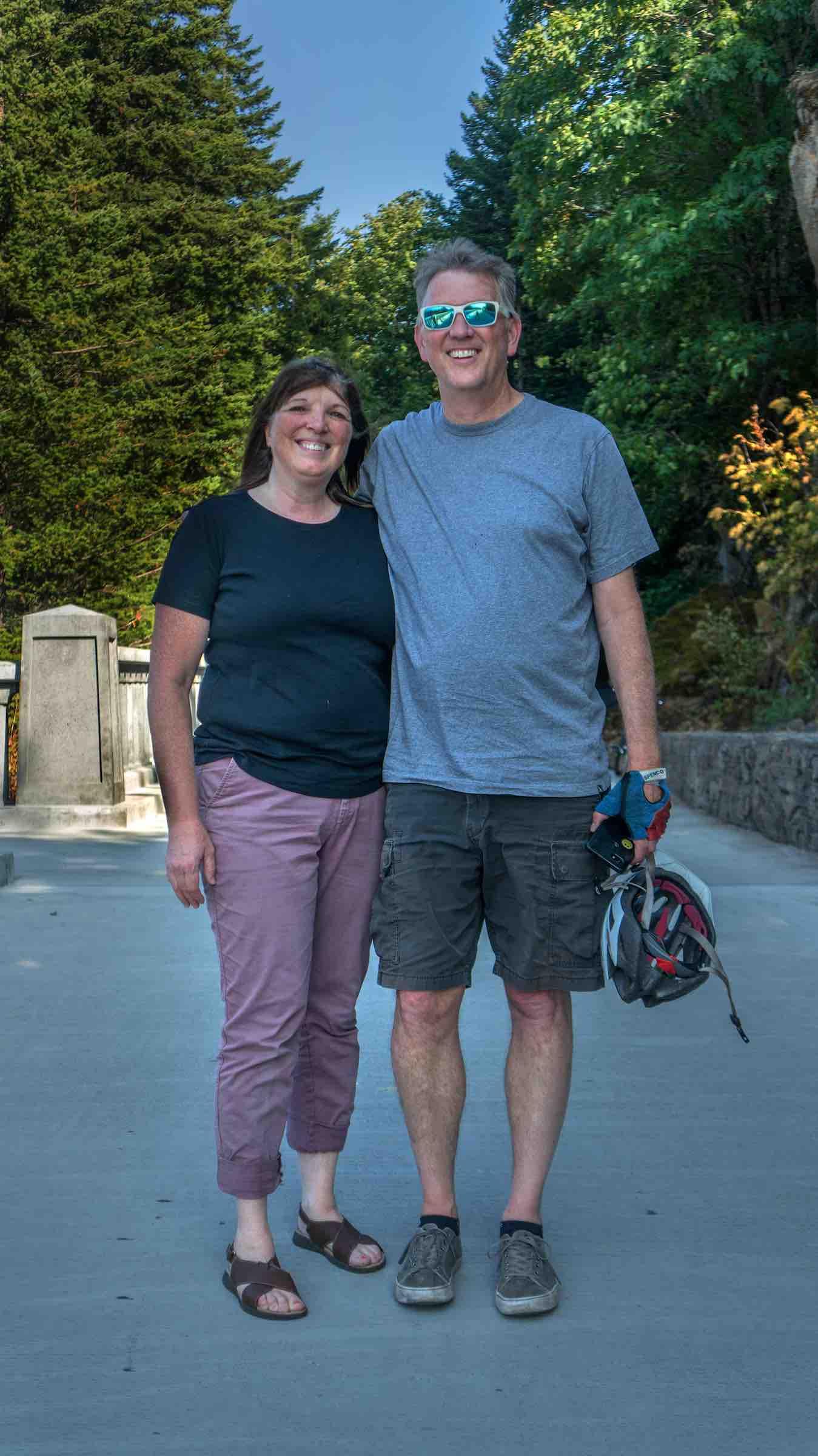 Suzi and me on the trail. (Credit: Jamison Logan)