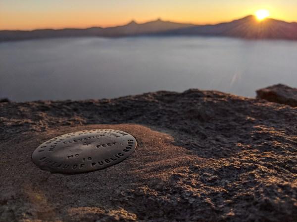 Crater Lake sunset