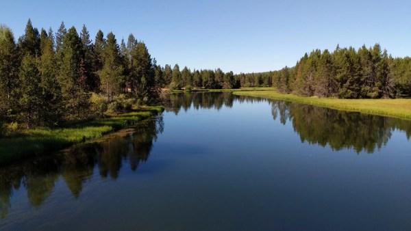 View of Deschutes River from the bridge
