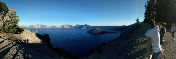 Our first view of Crater Lake