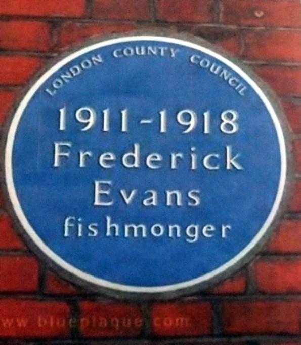 Frederick Evans Blue Plaque