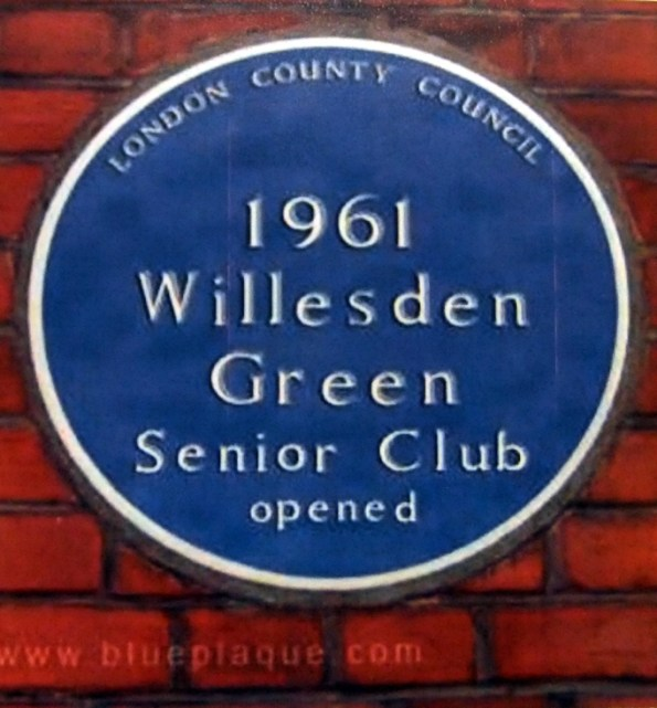 Willesden Green Senior Club Blue Plaque