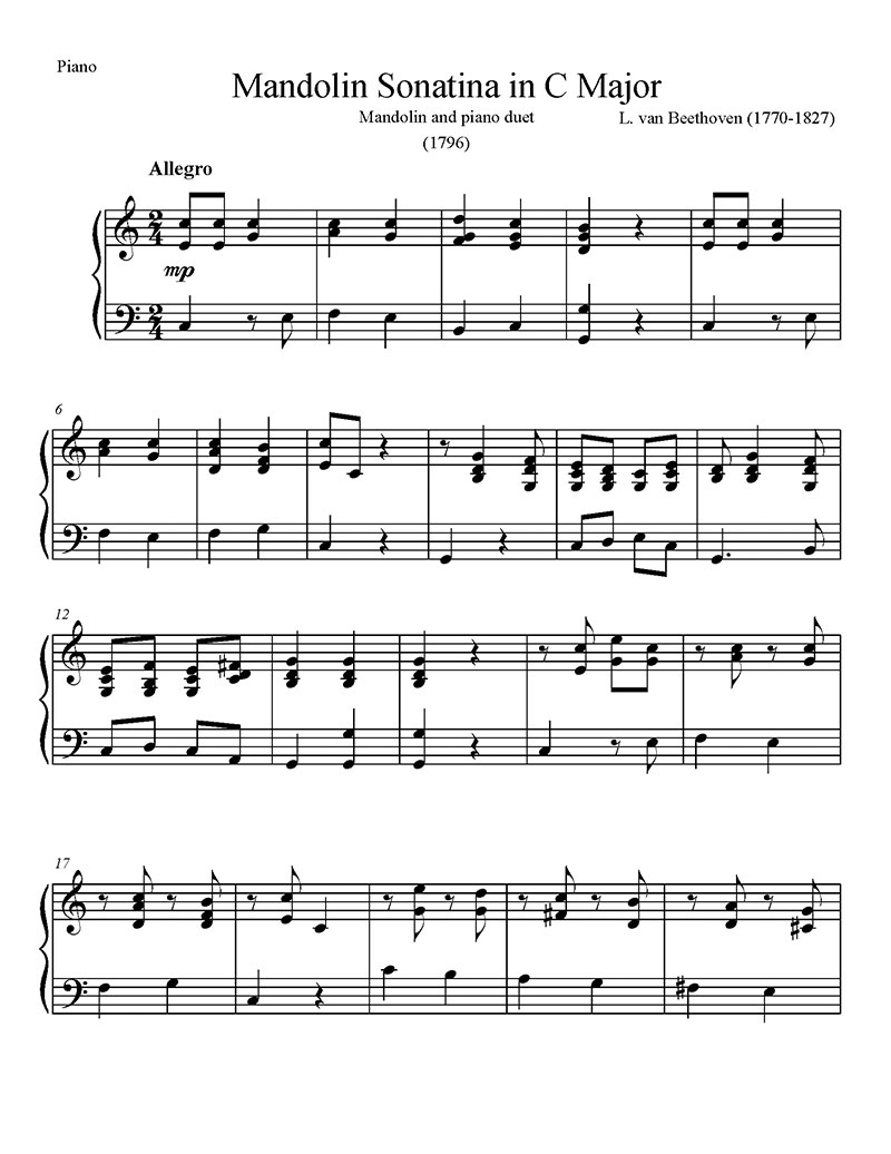 Sonatina-in-C-Major-Beethoven-Mandolin-and-Piano-Piano-Page-1