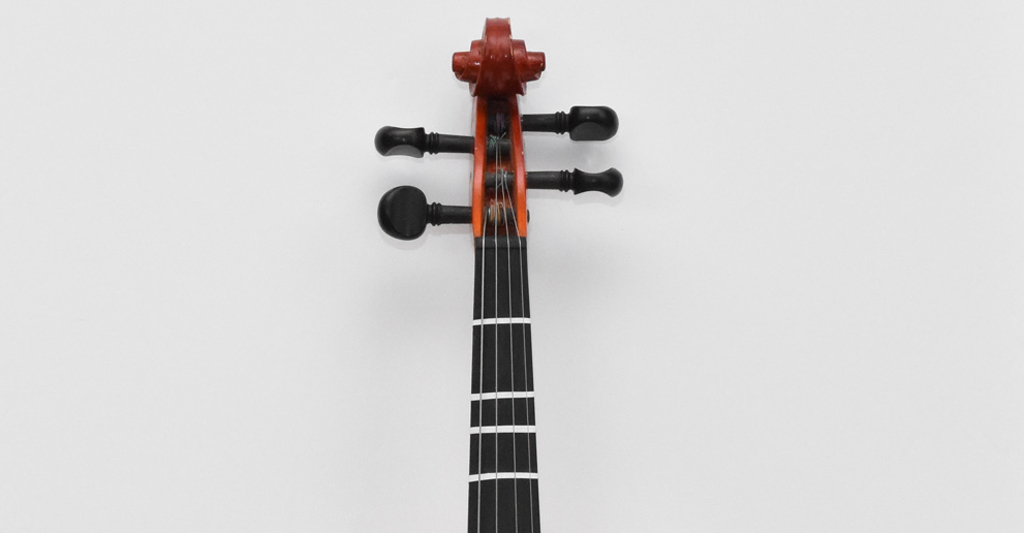 Violin-Fiddle-with-Tape-Marks-Closeup