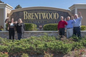 Brentwood Front Entrance with Brentwood Home Team Agents