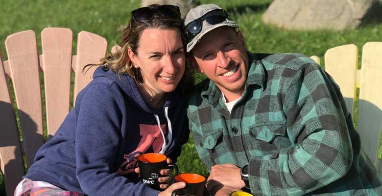 Laura and Brent Ferguson celebrating Laura's Birthday at the Lake