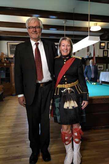 Leo Tobi with HLCol Jane W. Klugman at the Royal Highland Fusiliers Dinner