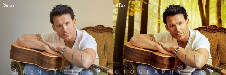 before & after cowra photographer brent young photoshop tutorial
