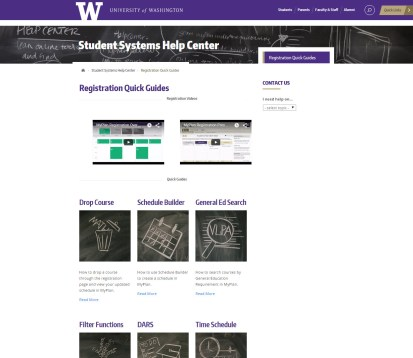 UW Office of the Registrar - Student Information Systems Help Center