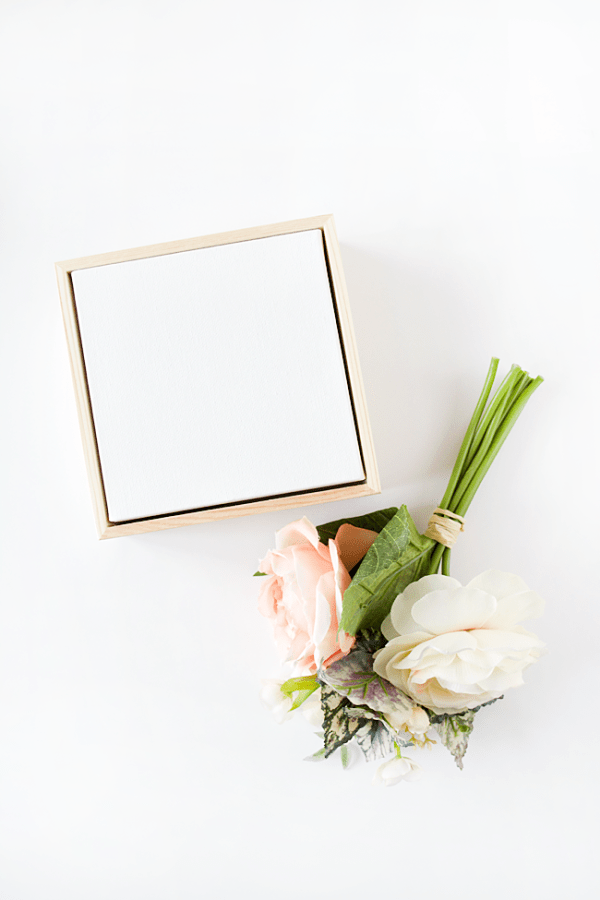 DIY Floral Canvas Art