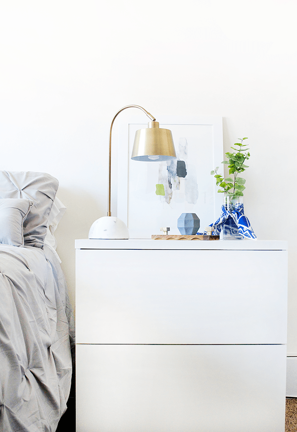Another round of #swapitlikeitshot and more thrift store finds to makeover! Check out this simple DIY Thrifted Nightstand Decor!