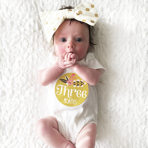 3 Month Baby Photo Shoot