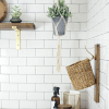 Reclaimed Wood Laundry Lint Basket Holder