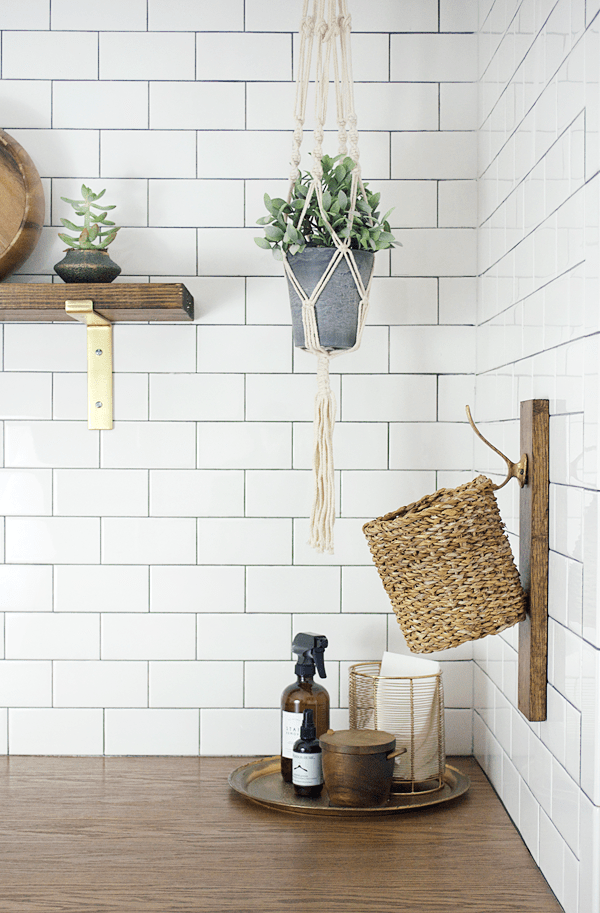 Use a piece of scrap wood to create this Laundry Lint Basket Holder!