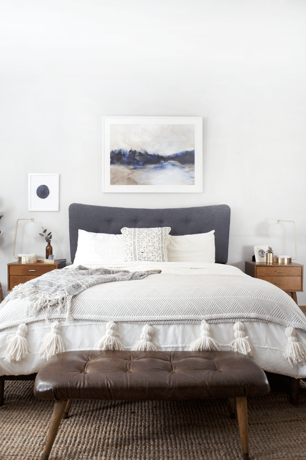 Modern Boho Bedroom Progress Brepurposed