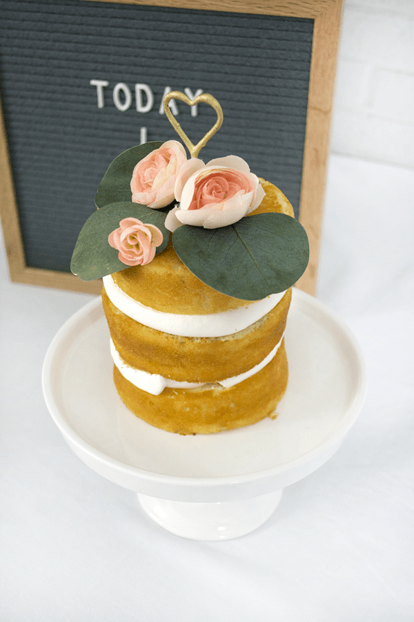 naked cake for baby