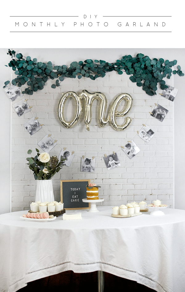 DIY Monthly Photo Garland for Baby's First Birthday