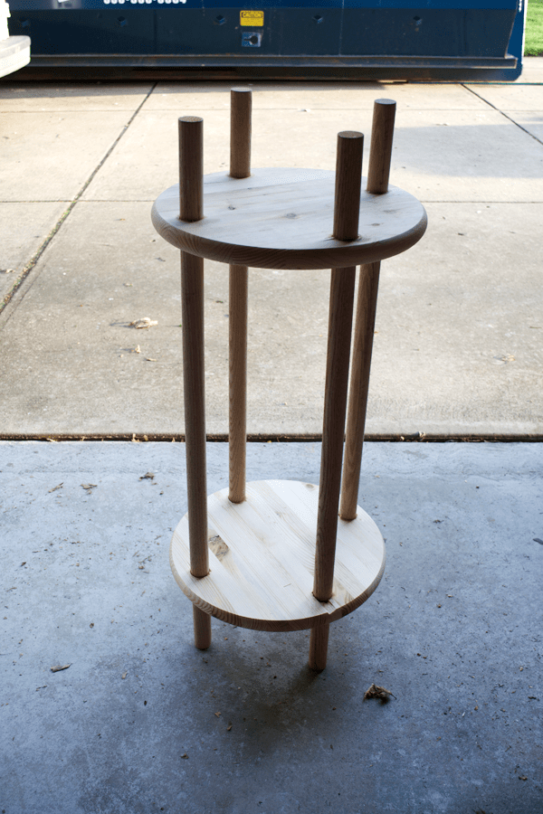DIY Dowel Rod Plant Stand