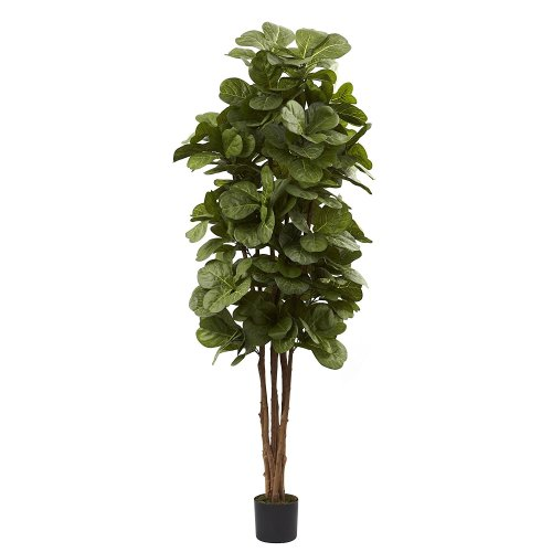large and realistic faux fiddle leaf fig