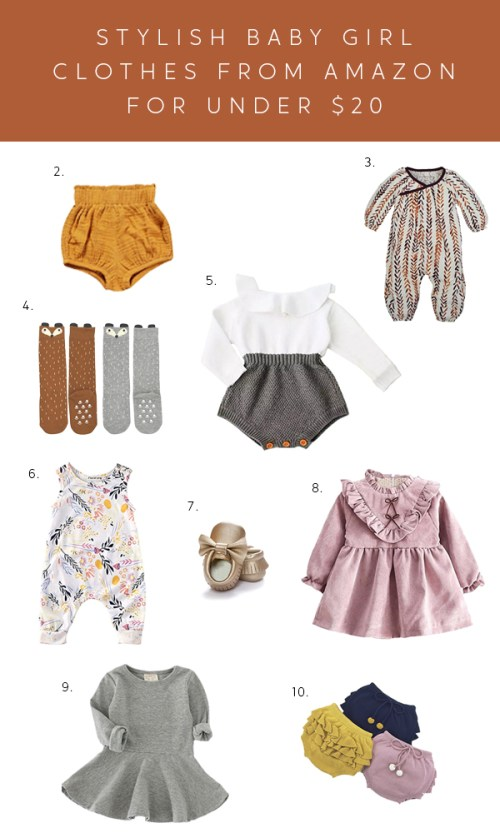 affordable baby girl clothes on amazon