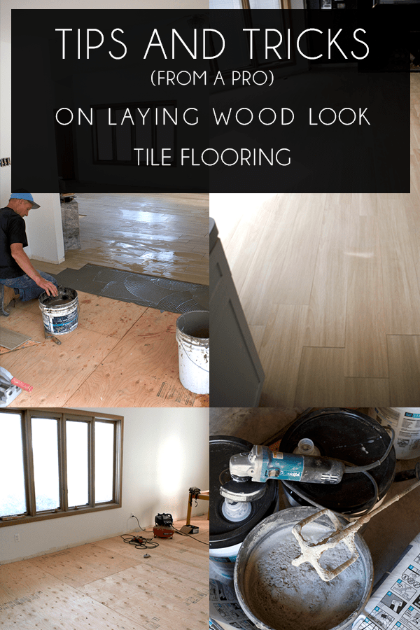installing wood look tile tips from a