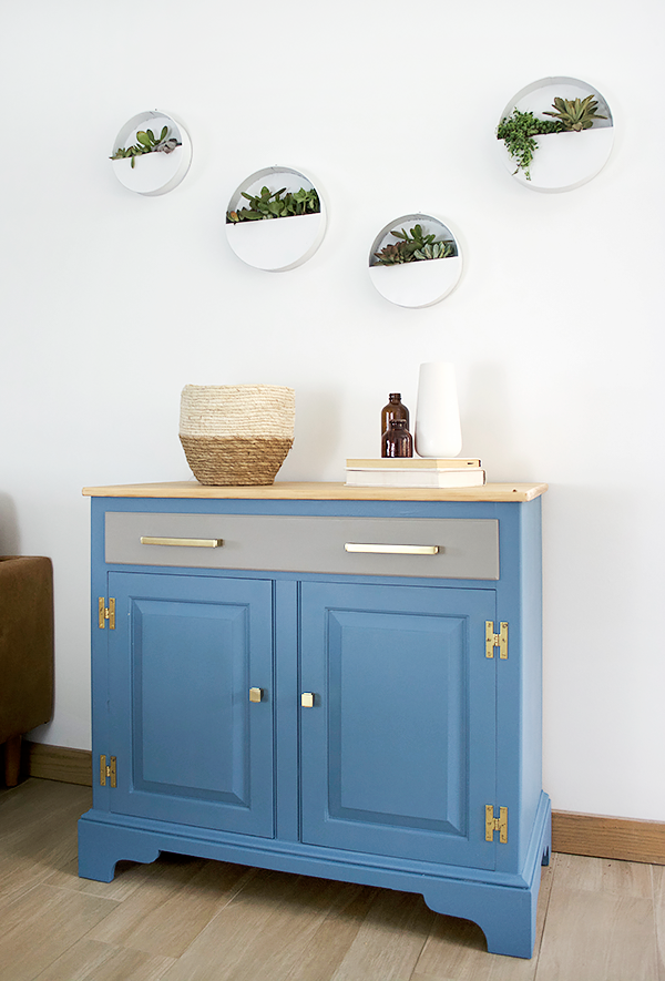 BEHR Blueprint painted furniture makeover