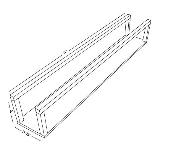Plans for building a DIY Floating Firewood Holder