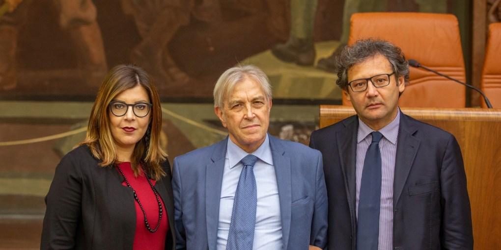 L'avvocato Monica Pagano, Sergio Bramini e Biagio Riccio
