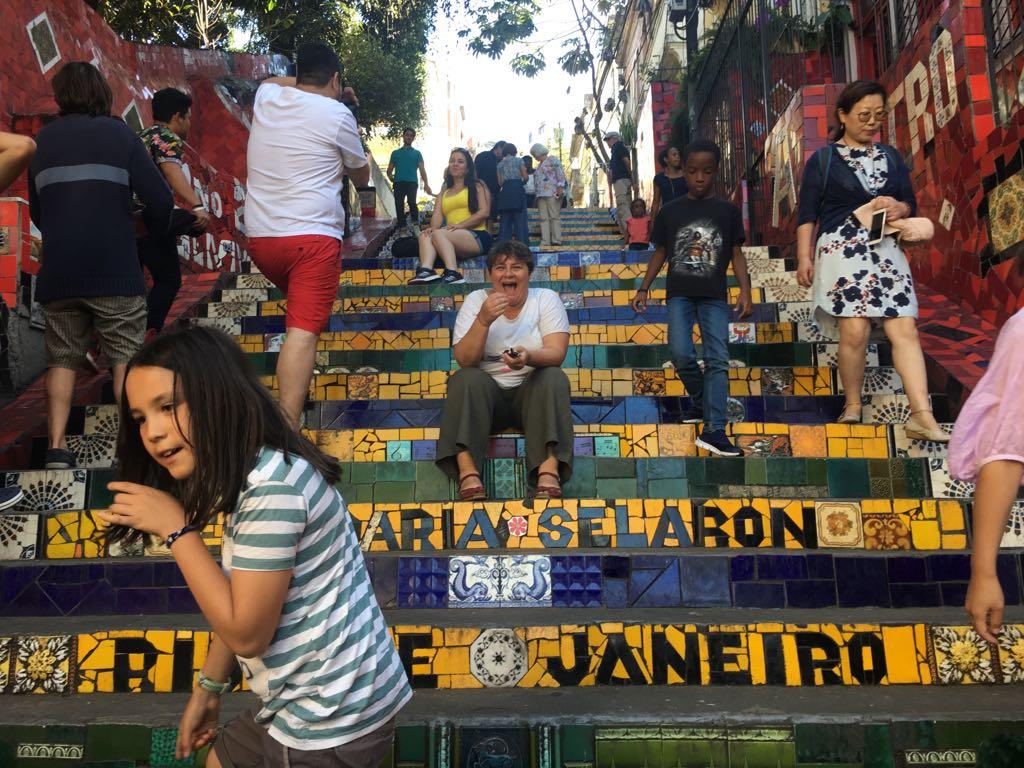 MOMENT DE RIGOLADE SUR LES ESCALARIA SELARON A RIO DE JANEIRO