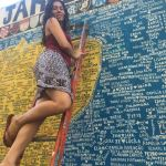 Ecrire son nom sur le mur de Lapa et passer un moment avec l'artiste
