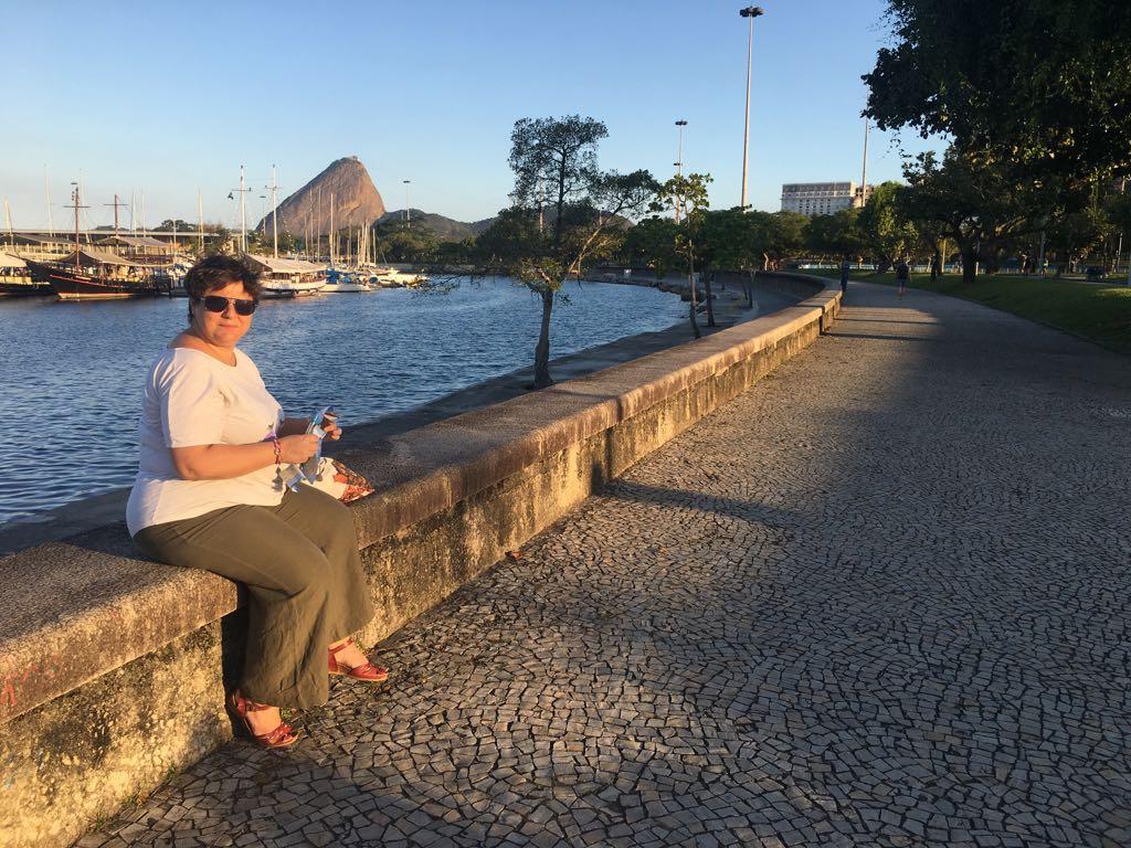 VISITE DE LA MARINA DE GLORIA A RIO AVEC LAETITIA
