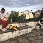 Moment insolite en haut de Gloria (avec une super vue sur Flamengo)