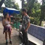 Visite d'une maison en ruine transformée en centre culturel à Santa Teresa - Rio