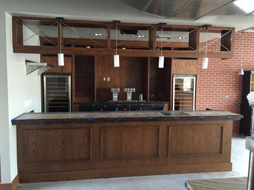 Interior progress of Glutton Restaurant