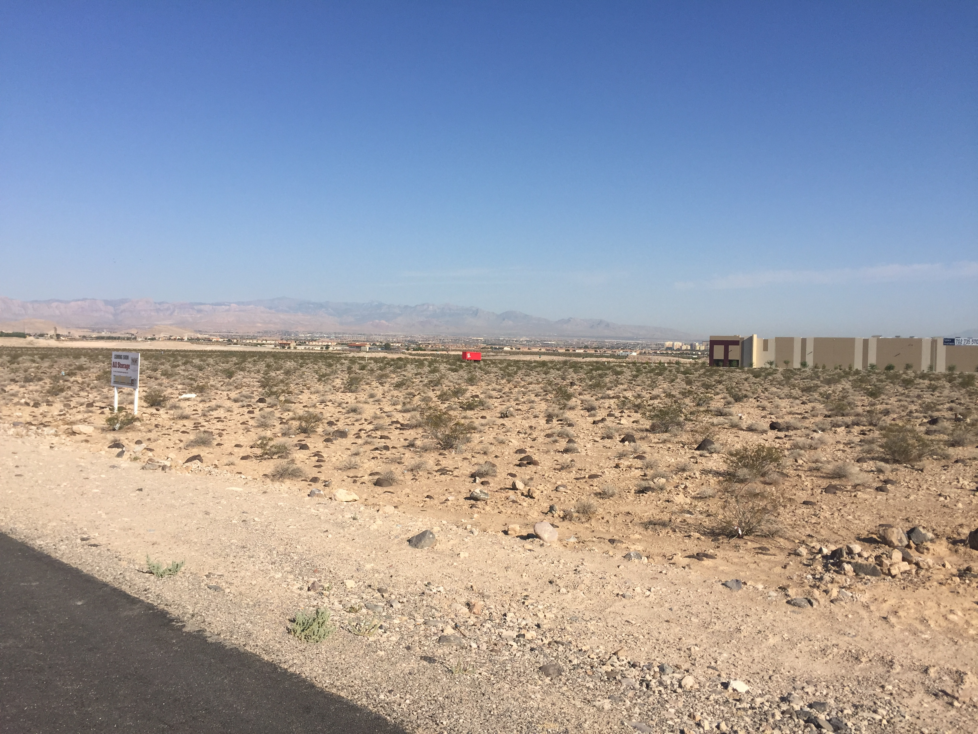 ... Desert Into A New Multi Building Gated Storage Facility. We Are  Currently Waiting For Final Building Permits To Be Issued From The City Of  Henderson And ...