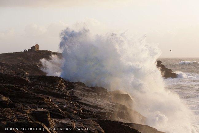 Sturm in der Bretagne Quiberon