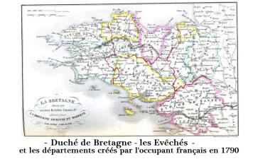 Duché de B_Evéchés_Dpt 1790_par Occupant français