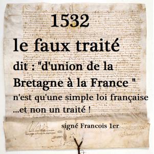 1532 Edit de François 1er - le faux traité d'union, simple loi française