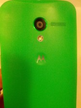 Moto X camera ring and dimple.