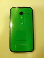 Moto X with Case Closeup
