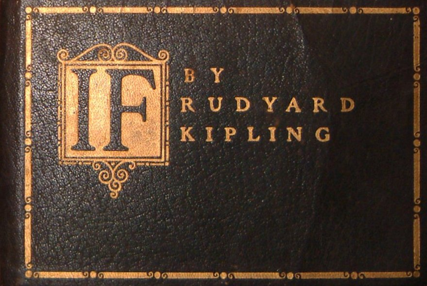 If – a poem by Rudyard Kipling