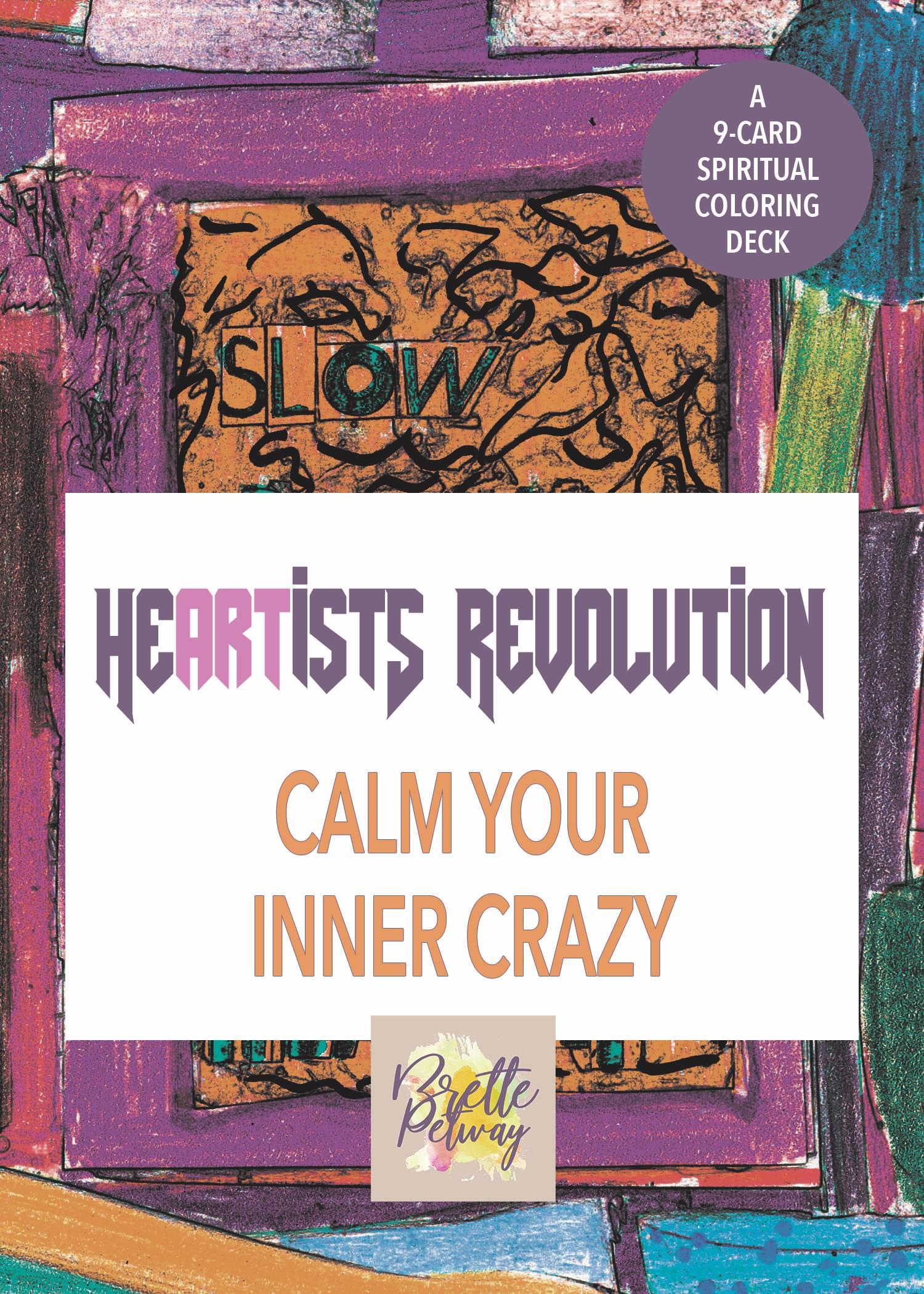 calming anti-stress creative children adult coloring gift set card deck
