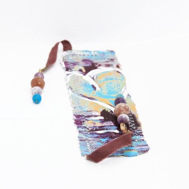 bookmark_original_artwork_silk_hand_dyed_ribbon_gemstone_crystal_citrine_amethyst_front