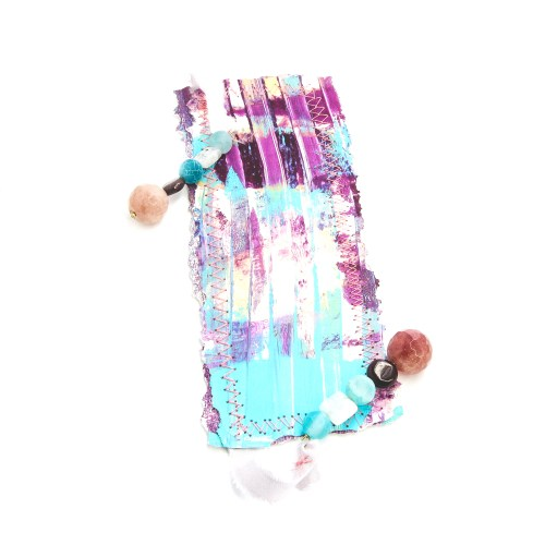bookmark_original_artwork_silk_hand_dyed_ribbon_gemstone_crystal_garnet_moonstone_cherry_quartz_front